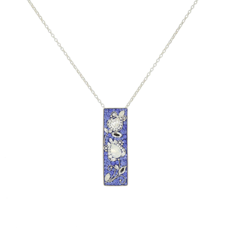 Colier-Katart-Blue-White-Tulip-Ribbon-K05010 (1)